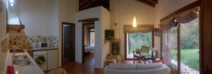 Casa Aire kitchen and sitting room
