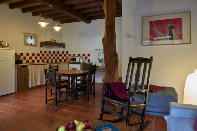 Casa Tierra kitchen and sitting room
